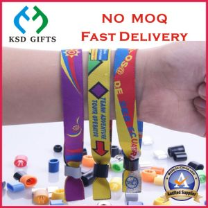 Hot Sell Factory Price Polyester/Textile/Woven Wristband pictures & photos