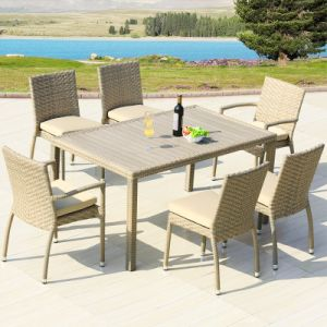 Patio Wicker Furniture Aluminum Plastic Wood Table Arm Chair (J818-90) pictures & photos