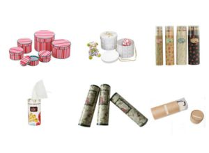 Color Printed Round Packaging Paper Tube with Logo pictures & photos