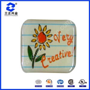 Flower Clear Epoxy Adhesive Resin Dome Label Sticker (SZXY069) pictures & photos