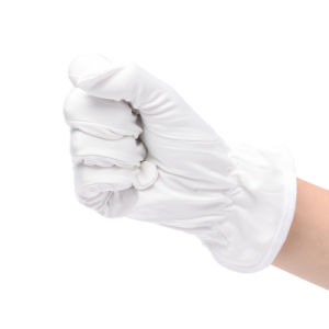 Lint-Free Super Fine Work Glove for Cleanroom Use pictures & photos