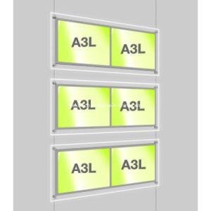 LED Crystal Light Pocket Kits for Estate Agent Hanging Display System pictures & photos