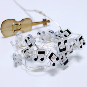 Copper Wire Waterproof Starry Lights for Garden Patio and Party Warm White Music Notes Shaped pictures & photos