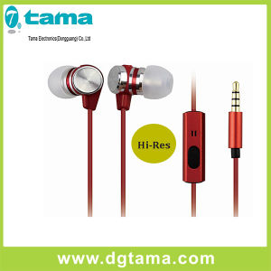 1.2m Colorful Hi-Res Stereo Metal Head Earphone for Mobile Phone