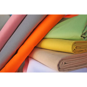 Woven Spandex Stretch Cotton Twill Fleece Fabric for Garment pictures & photos