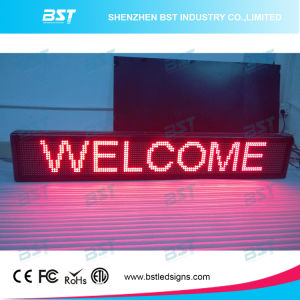P10 Red Color Semi-Outdoor LED Moving Message Display pictures & photos