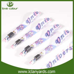 Fancy One Time Use Textile Wristband with Custom Design