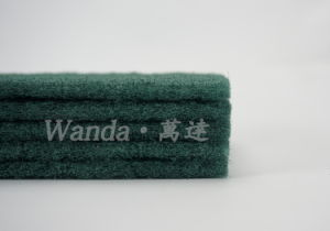 Strong Cleaning Bow-Tie Scourer Pad Shape Abrasive Green Scouring Pad pictures & photos