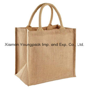 Wholesale Bulk Custom Printed Two Tone Eco-Friendly Jute Promotional Bags pictures & photos