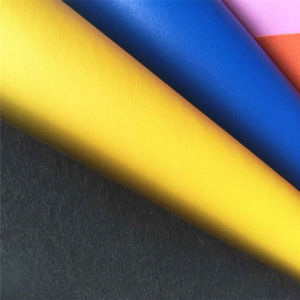 0.7mm Nonwoven Back PU Leather for Shoes Lining Hx-L1703 pictures & photos