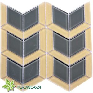 Golden Foil Crystal Glass Mosaic (TG-OWD-624) pictures & photos