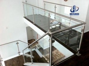 Indoor Stainless Steel Stair Railings with Galss Panel pictures & photos