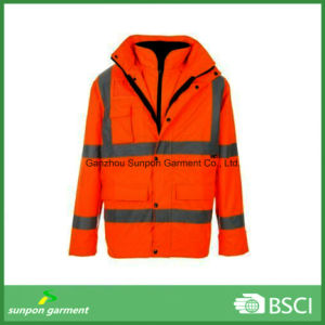 High Visible Safety Jacket with 3m Reflective Tape Workwear pictures & photos