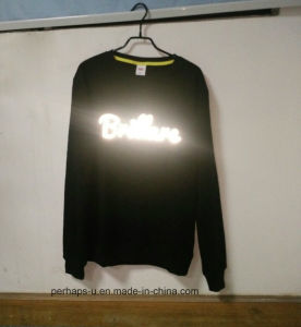 Cool Unisex 100%Cotton Terry Sweater with Custom Reflective Print Logo pictures & photos
