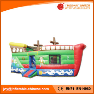 2017 Summer Inflatable Fishing Boat Jumping Moon House Bouncer (T6-604) pictures & photos