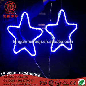 LED Star 6W PVC Motif Neon Flex Light Lamps with Ce RoHS for Holiday Decoration pictures & photos