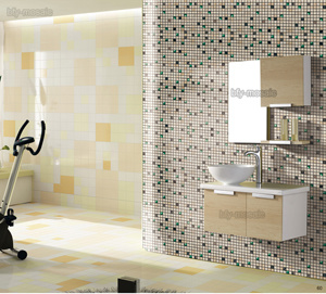 Natural Stone Mixed Glass Mosaic for House Building Material (FYSG034)