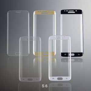 3D Curved Tempered Glass Screen Protector for Samsung S6 Screen Guard pictures & photos