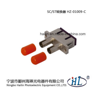 Sc-St Duplex Multimode Fiber Optic Adapter pictures & photos