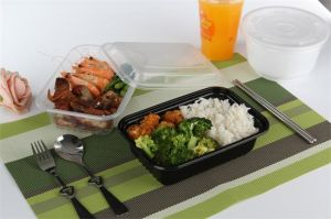 Disposable Plastic Food Container with Lid (1000ml) pictures & photos