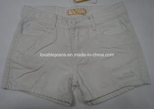 9.6oz White Denim Shorts for Women (HY2543C) pictures & photos