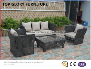 Modern Leisure Outdoor Furniture Rattan Garden Wicker Sofa (TG-7002) pictures & photos