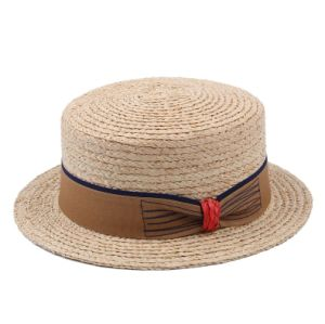 Factory Price Wholesale School Boater Straw Hat pictures & photos