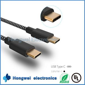 USB3.1 Type C to C Nylon Fabrics Braided Charger and Data Sync USB Cable pictures & photos