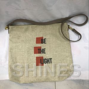 Gray Women Fashion Linen Bag