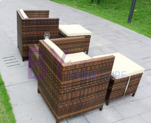 Outdoor Balcony Courtyard Villa Pedal Fashion Rattan Table Chair Combination pictures & photos