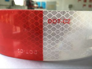 "7"" White 11"" Red Egp DOT-C2 Reflective Conspicuity Tape pictures & photos"