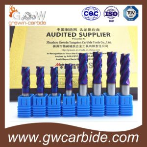 Carbide Flat Ball Nose End Mill 4 Flutes HRC60 pictures & photos
