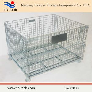 Galvanized Foldable Wire Mesh Storage Cage pictures & photos
