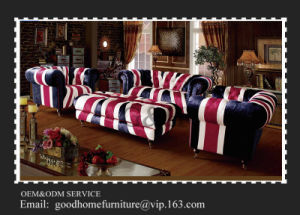 Antique Fabric Couch Love Seat and Chair Classic Table Set Classical Home Sofa pictures & photos
