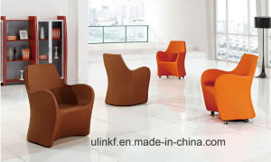 Leather Reception Conference Meeting Sofa Fashion Hotel Lobby Furniture (UL-JT643) pictures & photos