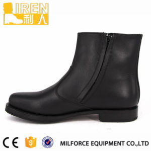 Hot Selling Black Full Cow Leather Military Boots pictures & photos