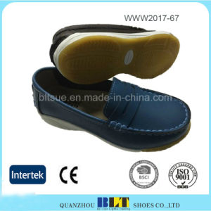Leather Upper and Lining Top Quality Loafer Women Shoes pictures & photos
