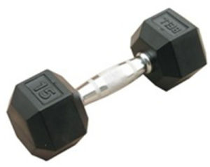 Hot Sale Cast Iron Rubber Coated Hex Dumbbell pictures & photos