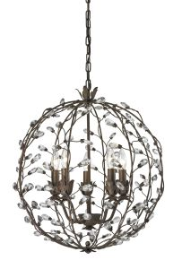 Decoration Vintage Iron Round Crystal Ball Pendant Light pictures & photos