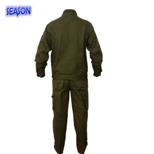 Army Green Safety Coverall Protective Clothing Military Uniforms Coverall Clothing pictures & photos