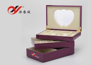 3 Layers Lacquered Wooden Jewellery Box pictures & photos