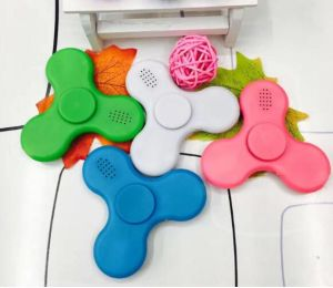 New Hotest Plastic Fidget Toy LED Light Finger Hand Gift Spinner with Bluetooth Speaker pictures & photos