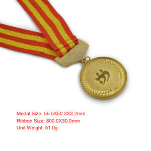 Round Shape Die Casting Gold Plated Memorial Medallion pictures & photos