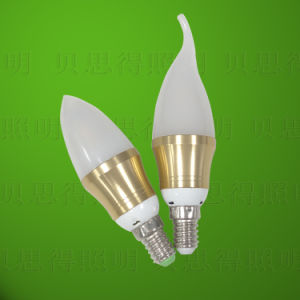 Golden Colored 5W LED Candle Light pictures & photos