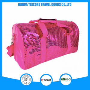 2015 Best Design PU and Rose Sequin Travel Bag pictures & photos