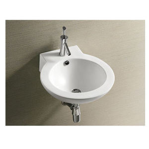 Ce Approve Wall Hung Ceramic Basin for Project pictures & photos