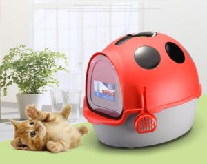 New Design Cat Toilet with Scoop Plastic Cat Litter Box pictures & photos