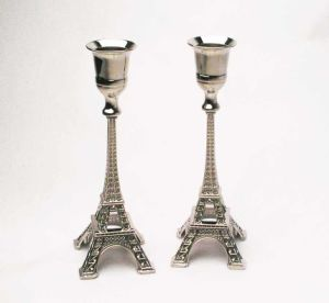 Wholesale Zinc Alloy with Nickel Plated Paris Eiffel Tower Candlestick pictures & photos