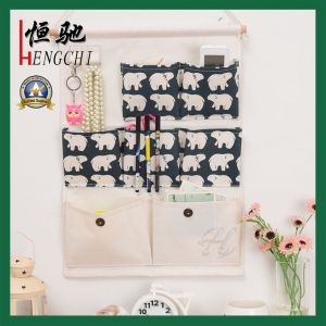 Cotton Fabric 7 Pockets Wall Door Closet Hanging Storage Bag pictures & photos
