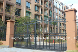 High-Quality Exterior Security Decorative Wrought Iron Fence Gate pictures & photos